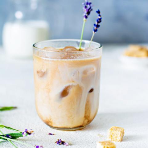 Lavender Vanilla Iced Latte
